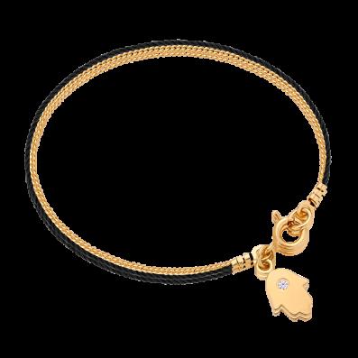 Bransoletka sznureczek z rączką Fatimy