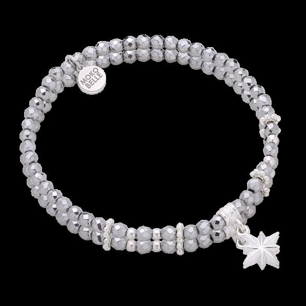 Hematites bracelet with small star pendant