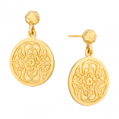 Earrings with Mokobelle medallions