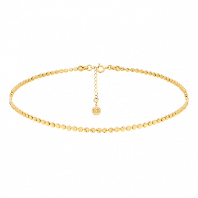 Gold-plated beads choker