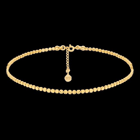 Gold-plated beads choker