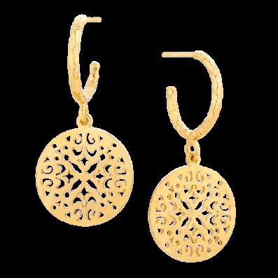Hoop earrings with Aisha rosette