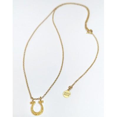 Necklace with horseshoe pendant