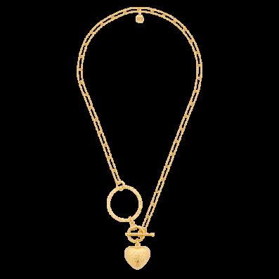 Naszyjnik łańcuch z sercem