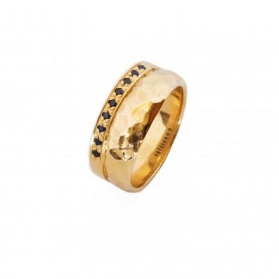 Podwójny pierścionek z cyrkoniami