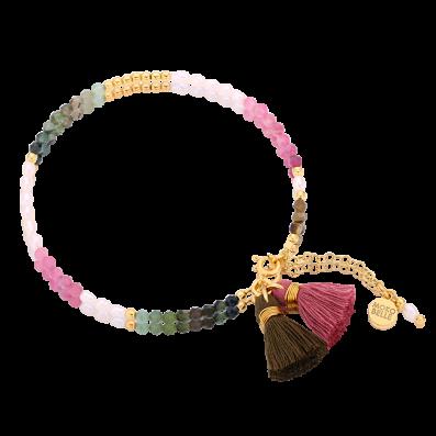 Bransoletka z pereł oraz turmalinów z chwostami