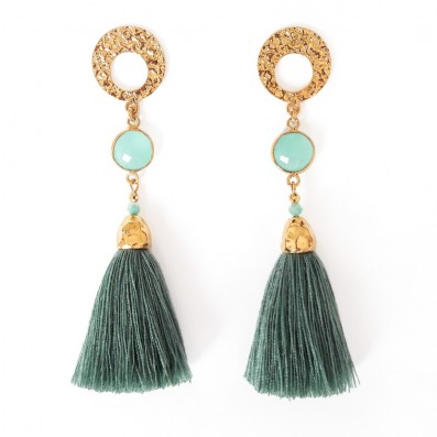 Sonia mini earrings with jadeit stones