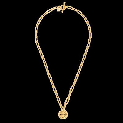 Naszyjnik łańcuch z rozetą Aisha