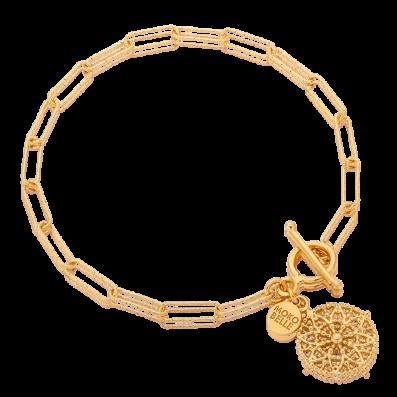 Bransoletka łańcuch z rozetą Emma