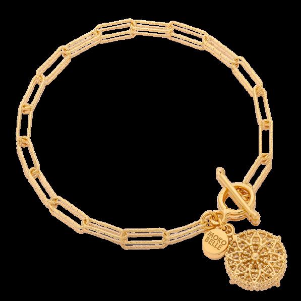 Chain bracelet with Emma rosette