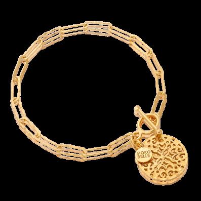 Bransoletka łańcuch z rozetą Aisha i ozdobnym zapięciem