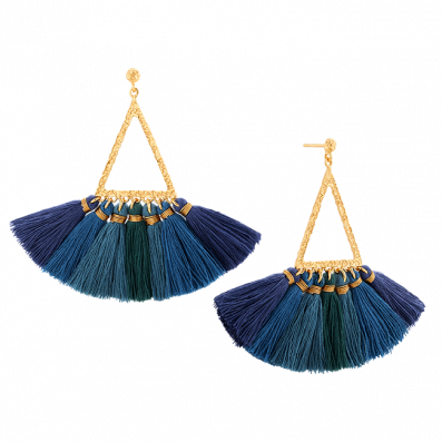 Gaya earrings with tassels