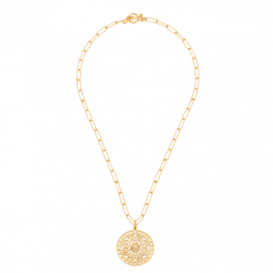 Chain necklace with Macarena rosette