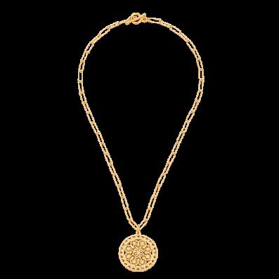 Naszyjnik łańcuch z rozetą Macarena