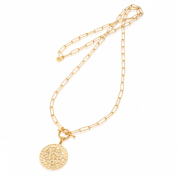 Long necklace with Macarena rosette
