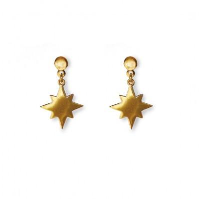 Earrings with stars pendants