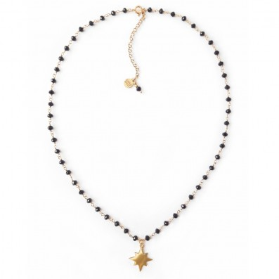 Spinels necklace with small star pendant