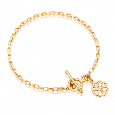 Chain bracelet with Luna rosette