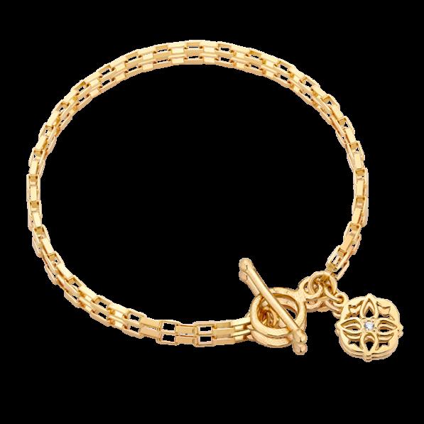 Chain bracelet with Luna rosette