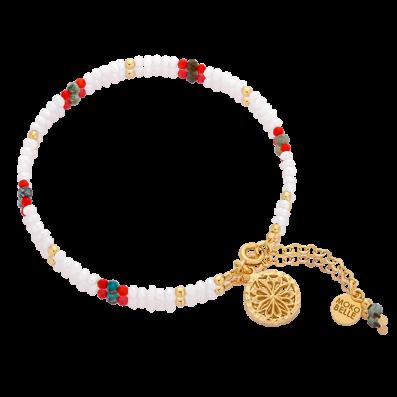 Pearls bracelet with Alice rosette