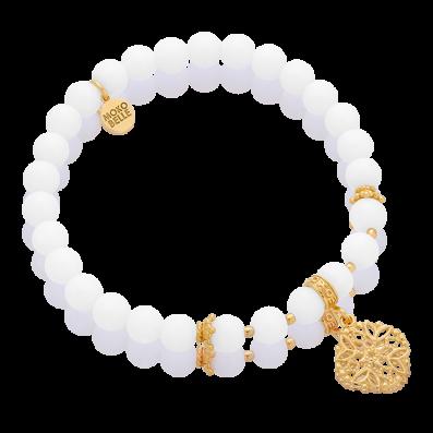 Shells bracelet with Cashmere rosette