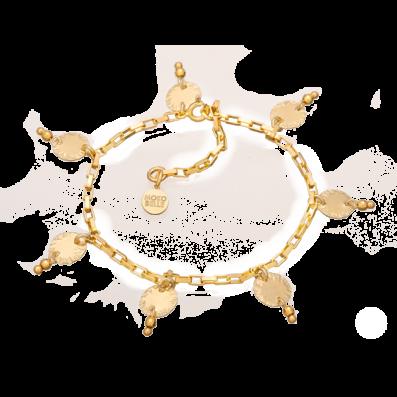 Bransoletka z cekinami i kuleczkami