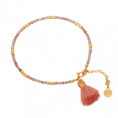 Opal stones bracelet with tassel