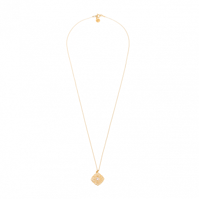 Chain necklace with Maroko pendant and white zirconium
