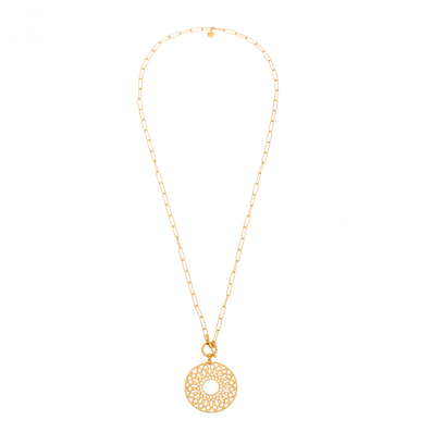 Chain necklace with Fortuna rosette