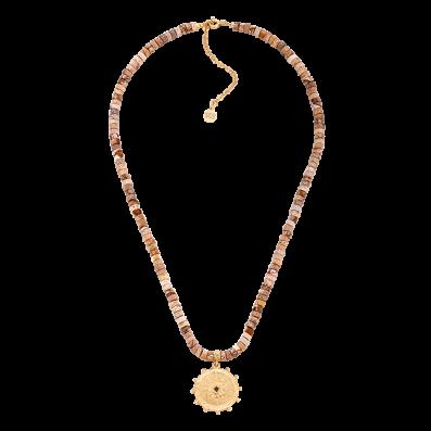 Jasper stones necklace with Solaris rosette