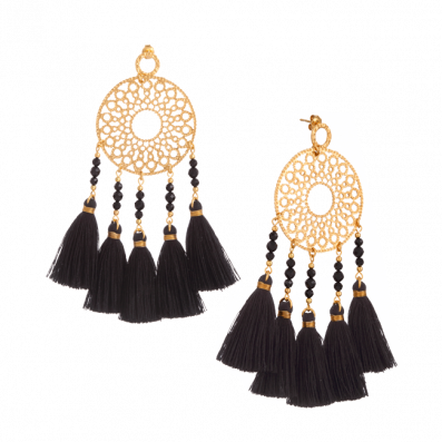 Fortuna earrings with tassels