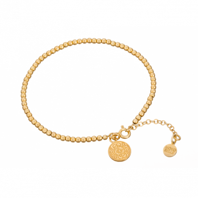 Gold-plated beads bracelet with Mokobelle pendant