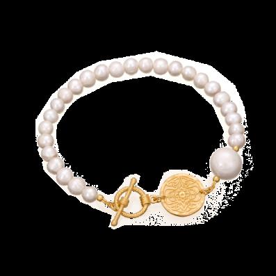 Pearl bracelet with Mokobelle pendant