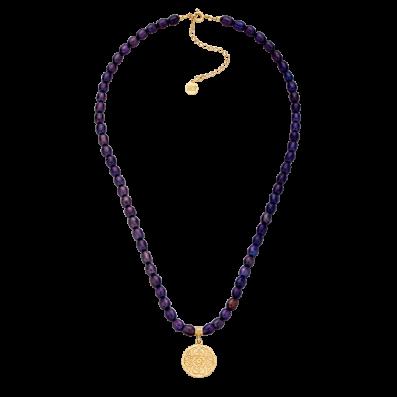 Dark pearls choker with Mokobelle pendant