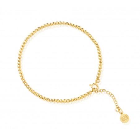 Gold-plated beads bracelet