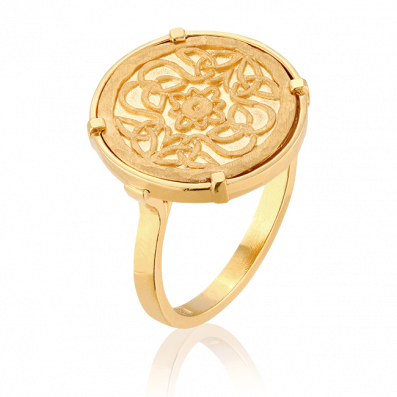 Signet ring with Mokobelle medallion