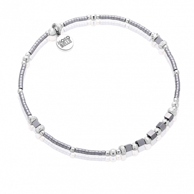 Grey hematites bracelet