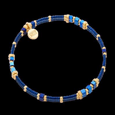 Bransoletka z niebieskich hematytów