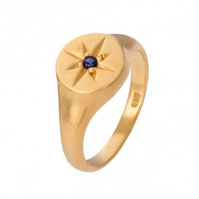Signet with sapphire