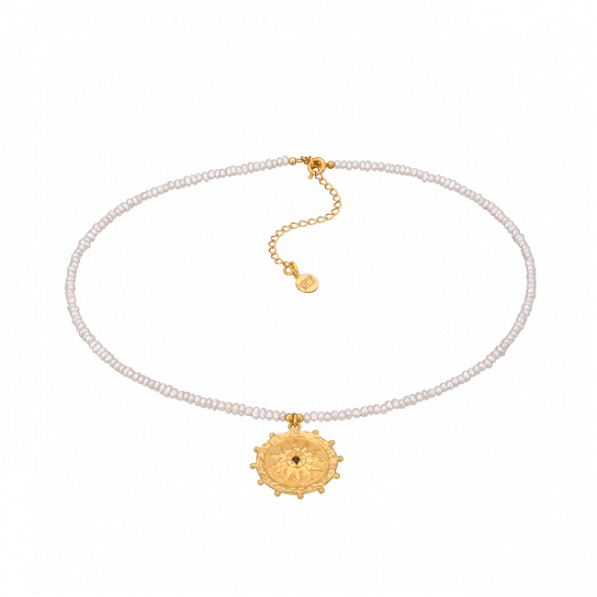 Pearl choker with Solaris rosette