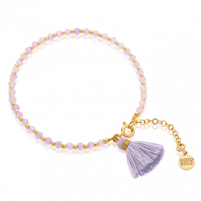 Amethyst bracelet with lilac tassel