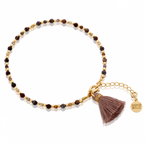 Chrysocoles and bronzes bracelet with tassel