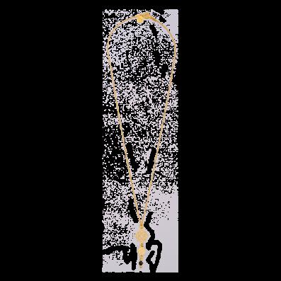 Łańcuszek z rozetką Camelia i spinelem