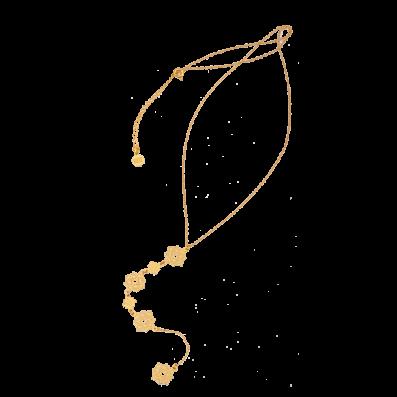 Długi łańcuch z rozetkami Camelia