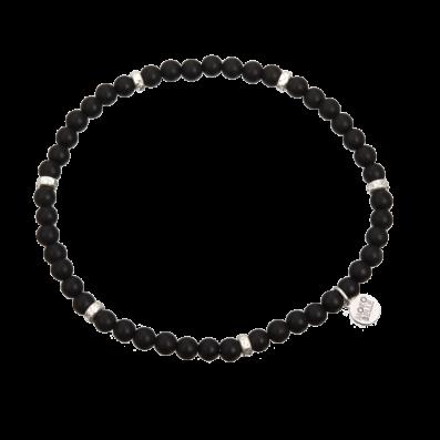Men's black hematites bracelet