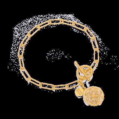 Bransoletka łańcuch z rozetką Daphne