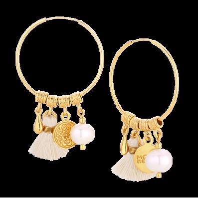 Kolczyki Capri z jasną perłą