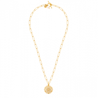 Naszyjnik łańcuch z rozetą Estella