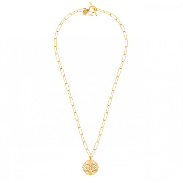Chain necklace with Estella rosette