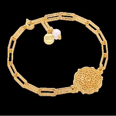 Bransoletka łańcuch z rozetą Estella